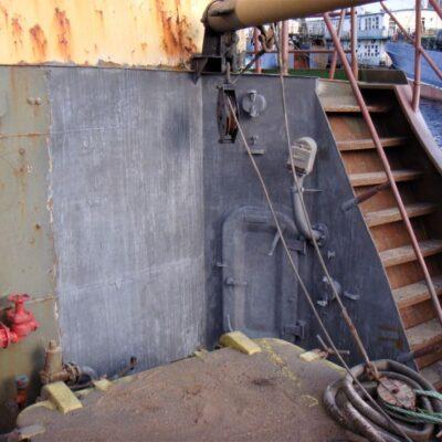Газотермическое нанесение цинкового покрытия на палубную постройку рыболовецкого судна, г. Мурманск