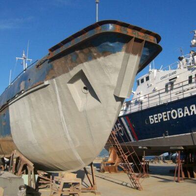 Очистка рыболовецкого судна и нанесение цинкового покрытия, г. Новороссийск